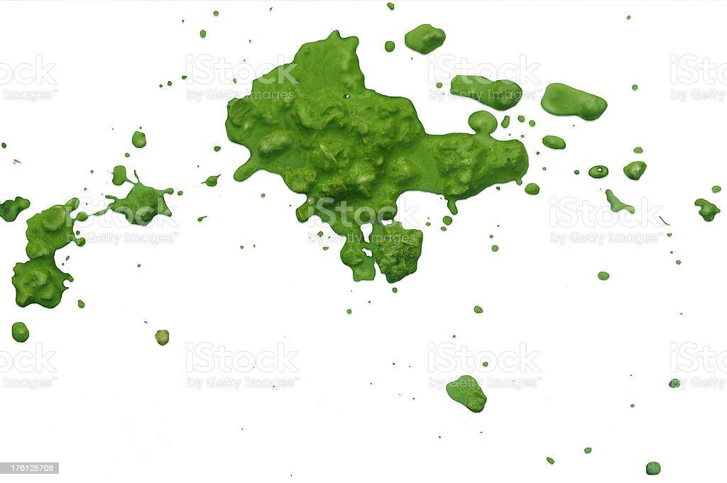 Bright Green Glop stock photo