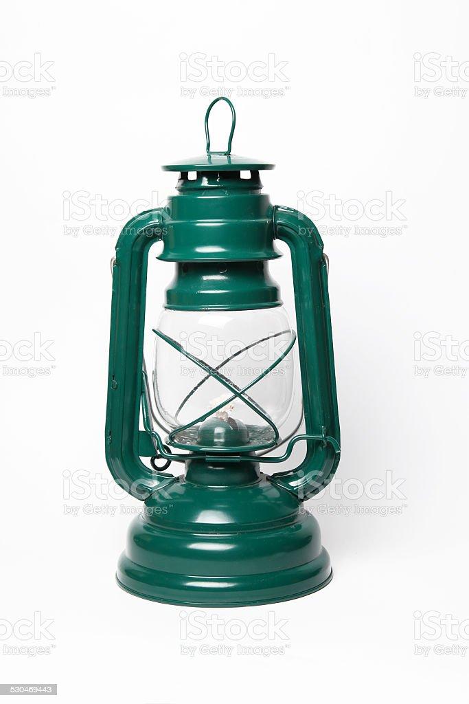 Bright green lantern stock photo