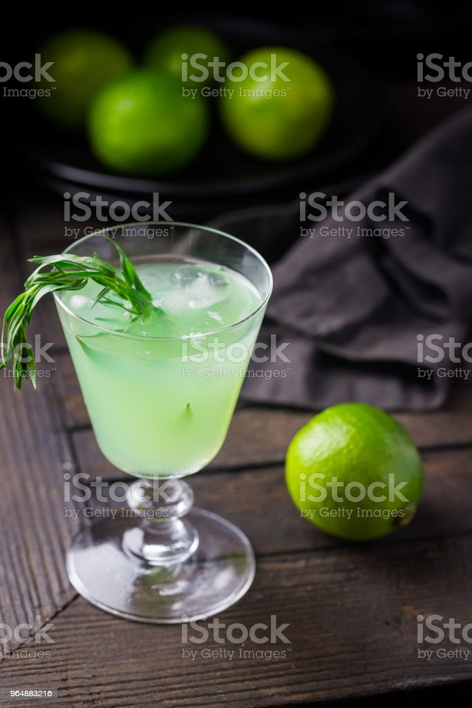 Bright green lemonade royalty-free stock photo