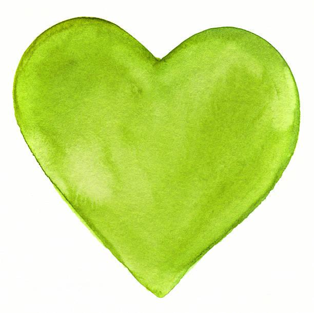 Bright Green GEMALTES HERZ – Foto