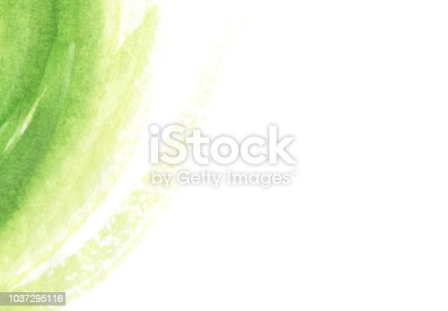 istock Bright green waves abstract background 1037295116