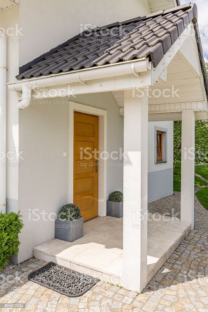 Bright house entry photo libre de droits