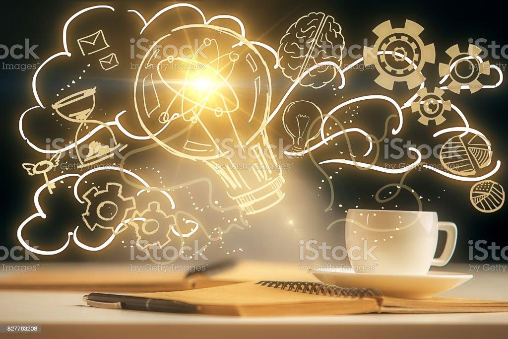 Bright idea concept stock photo