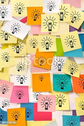 858413274 istock photo Bright idea notes 637078740