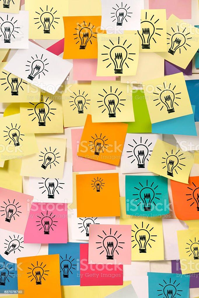 Bright idea notes stock photo