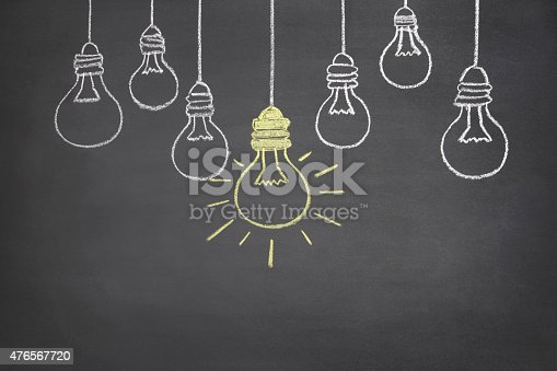 istock Bright Ideas Concept on Blackboard 476567720