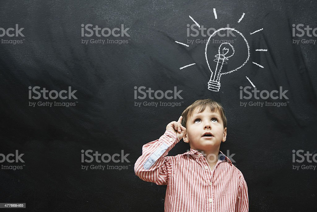 Bright ideas for a brighter future stock photo