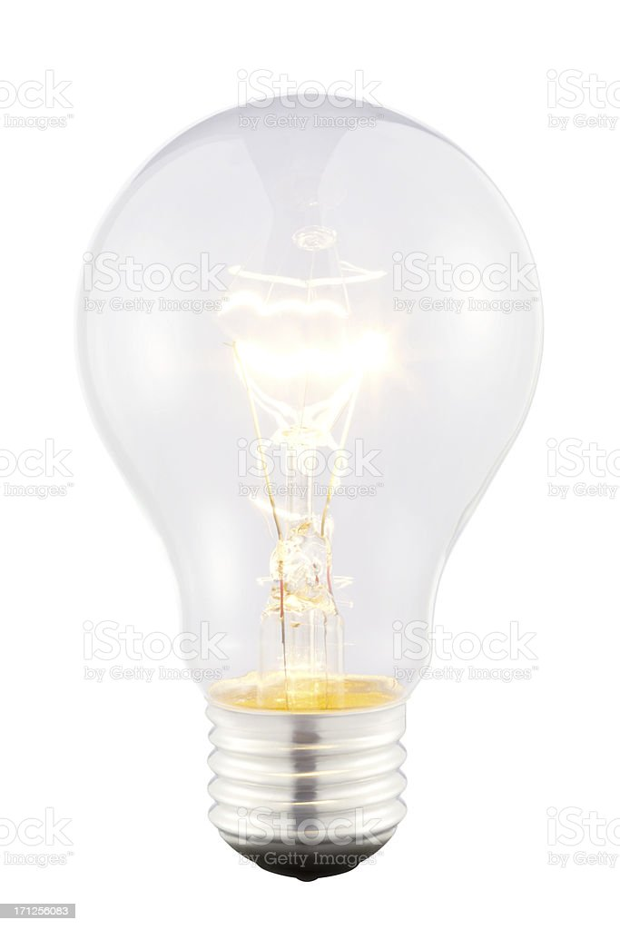 Bright Lightbulb stock photo