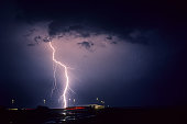 An active summer thunderstorm produced many of this type of so called CG Cloud Ground lightning strikes.