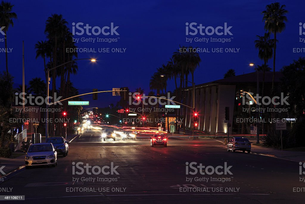 Bright Lights Of Palm Springs Stock Photo - Download Image
