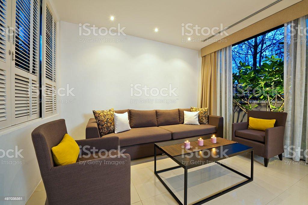 Bright Living room stock photo