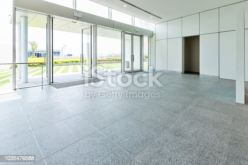 1035478670 istock photo Bright lobby in morden office building 1035476588