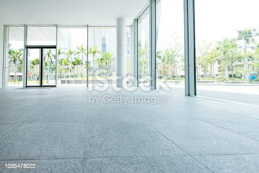 1035478670 istock photo Bright lobby in morden office building 1035478022