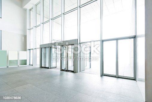 1035478670 istock photo Bright lobby in morden office building 1035478636