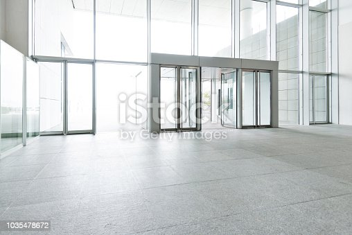 1035478670 istock photo Bright lobby in morden office building 1035478672