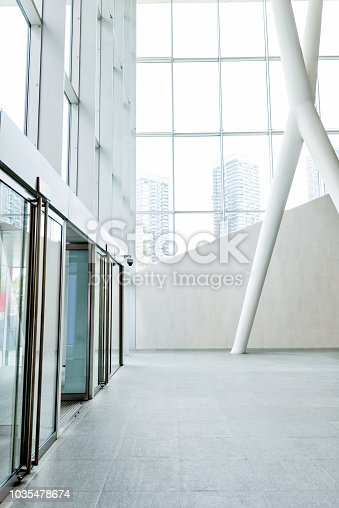 1035478670 istock photo Bright lobby in morden office building 1035478674