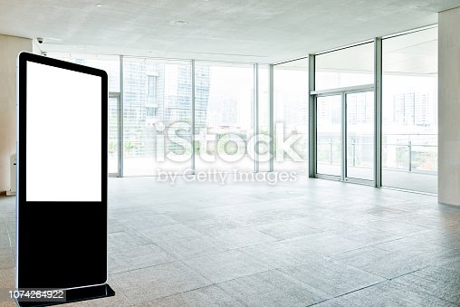 1035478670 istock photo Bright lobby in morden office building 1074264922