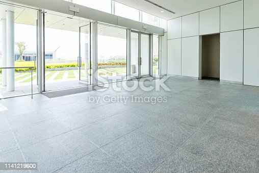 1035478670 istock photo Bright lobby in morden office building 1141219600