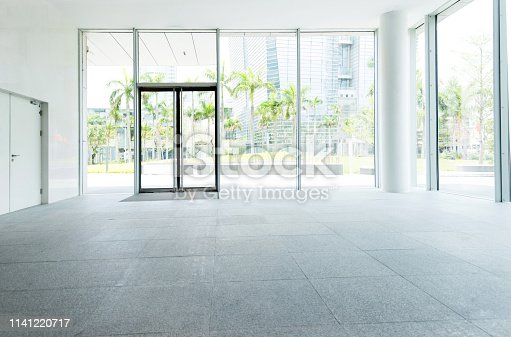 1035478670 istock photo Bright lobby in morden office building 1141220717