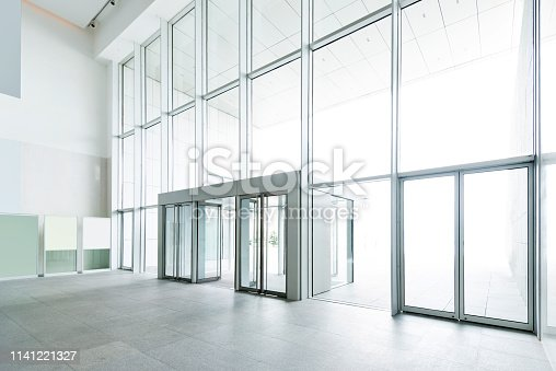 1035478670 istock photo Bright lobby in morden office building 1141221327