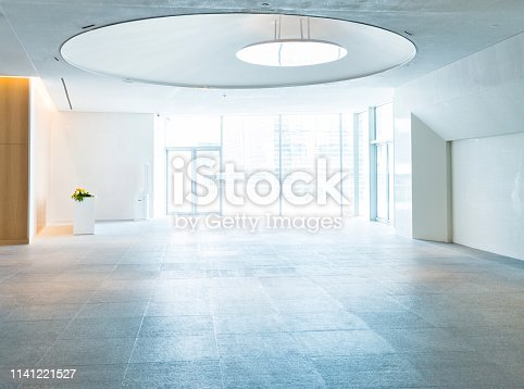 1035478670 istock photo Bright lobby in morden office building 1141221527