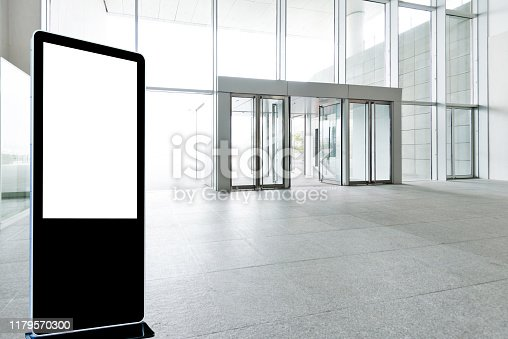 1035478670 istock photo Bright lobby in morden office building 1179570300