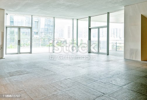1035478670 istock photo Bright lobby in morden office building 1189872707