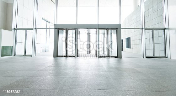 1035478670 istock photo Bright lobby in morden office building 1189872821