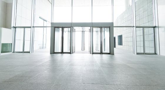 Bright lobby in morden office building.