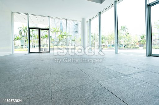 1035478670 istock photo Bright lobby in morden office building 1189872824