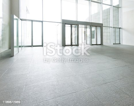 1035478670 istock photo Bright lobby in morden office building 1189872989