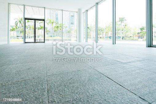 1035478670 istock photo Bright lobby in morden office building 1219548664