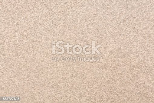 istock Bright luxury beige leather background 875727628