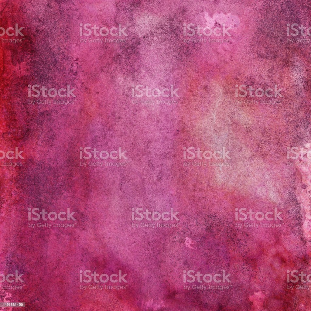 Bright magenta hand painted background with texture stock photo