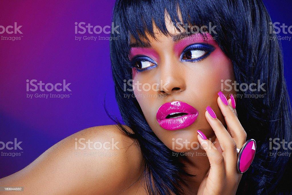 bright make-up royalty-free stock photo