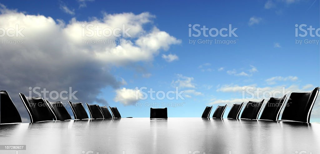 Bright meeting royalty-free stock photo