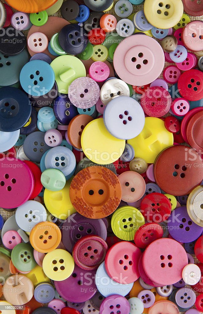 Bright mixed buttons royalty-free stock photo