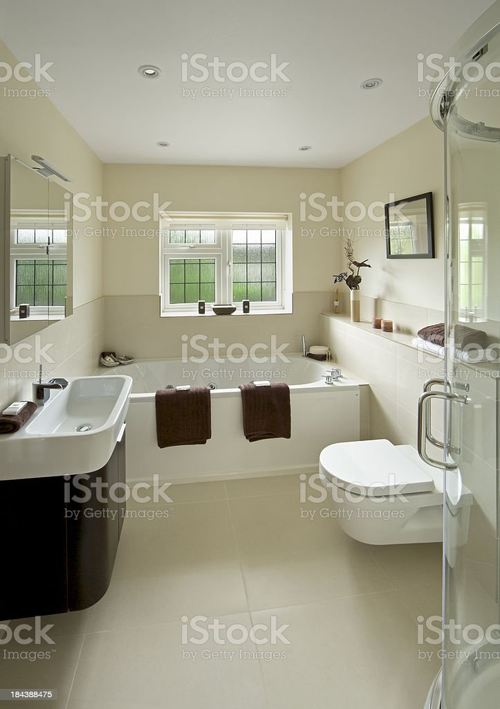 bright modern guest's bathroom royalty-free stock photo