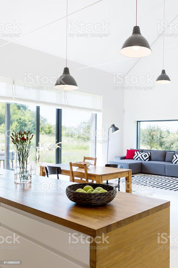 Bright modern house stock photo