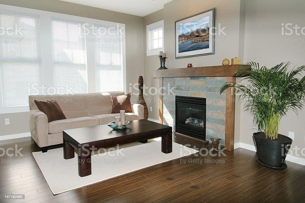 Bright, Modern Living Room royalty-free stock photo
