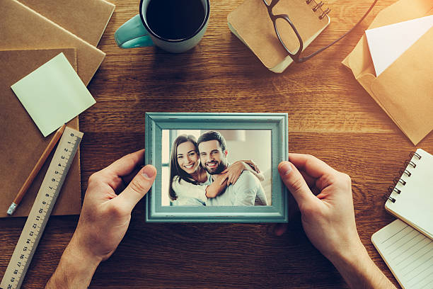 bright moments. - uomo nostalgia foto e immagini stock