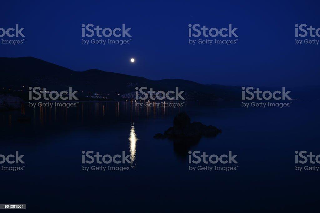 bright moon - Royalty-free Beach Stock Photo