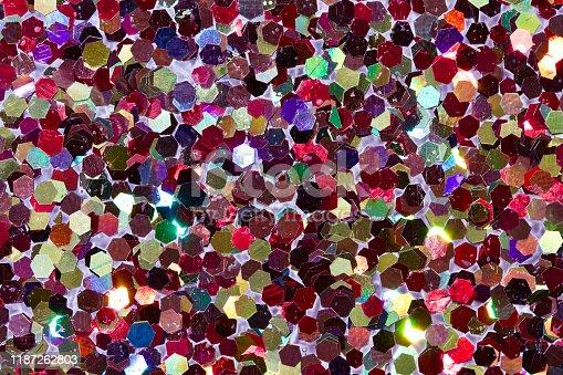 1134278444 istock photo Bright multi color confetti glitter texture background 1187262803