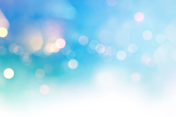 bright multicolor high key bokeh dot background - focus on background stock photos and pictures