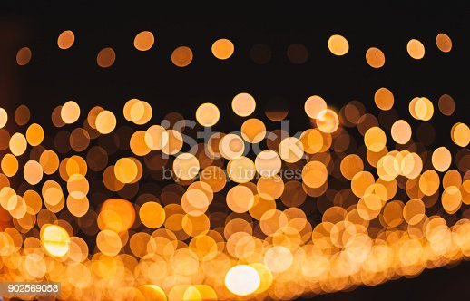 istock Bright multicolor lights defocused background blur with bokeh 902569058