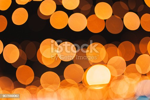 istock Bright multicolor lights defocused background blur with bokeh 902569062