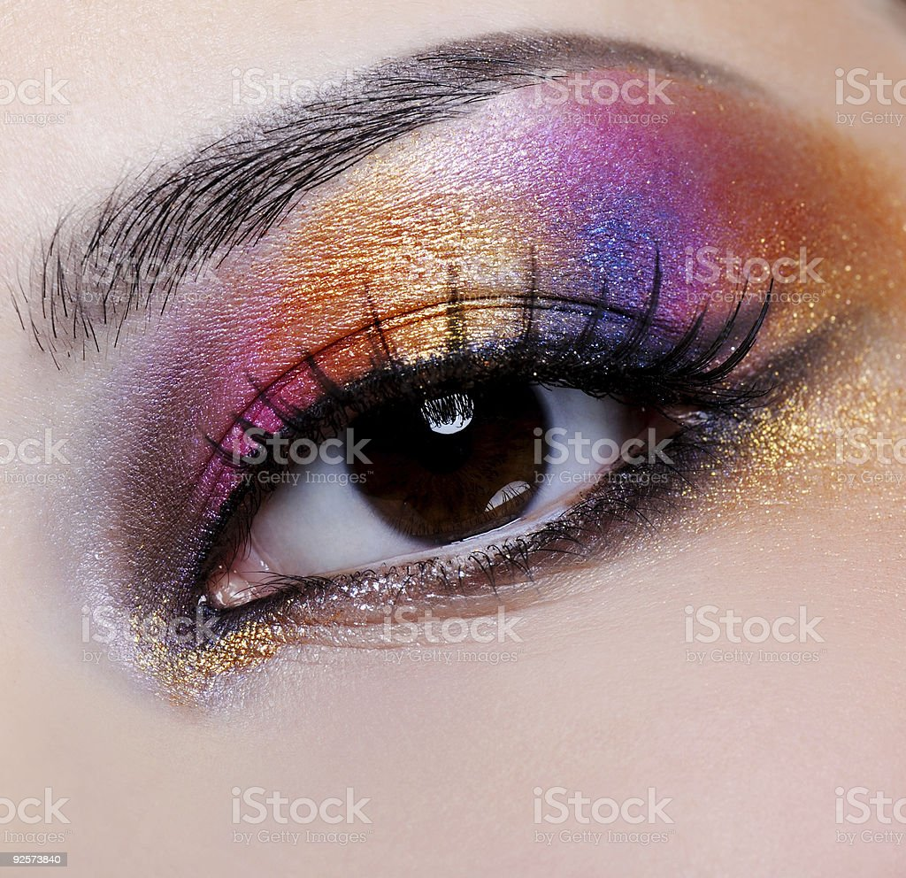 bright multicoloured make-up royalty-free stock photo