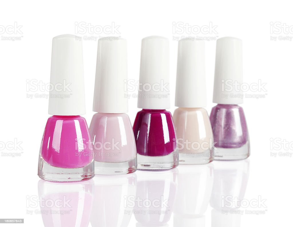 bright nail polishes royalty-free stock photo