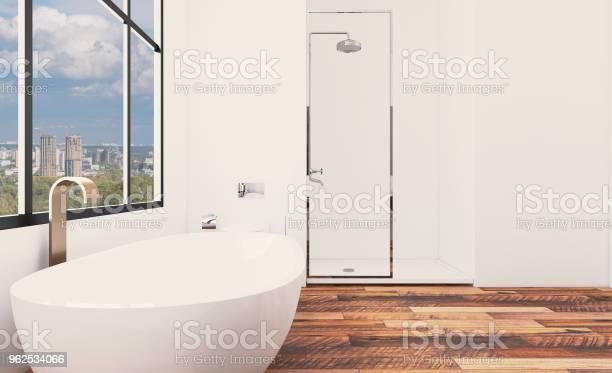 Foto de Interior De Casa De Banho Nova Brilhante Renderização 3d e mais fotos de stock de Artigo de decoração