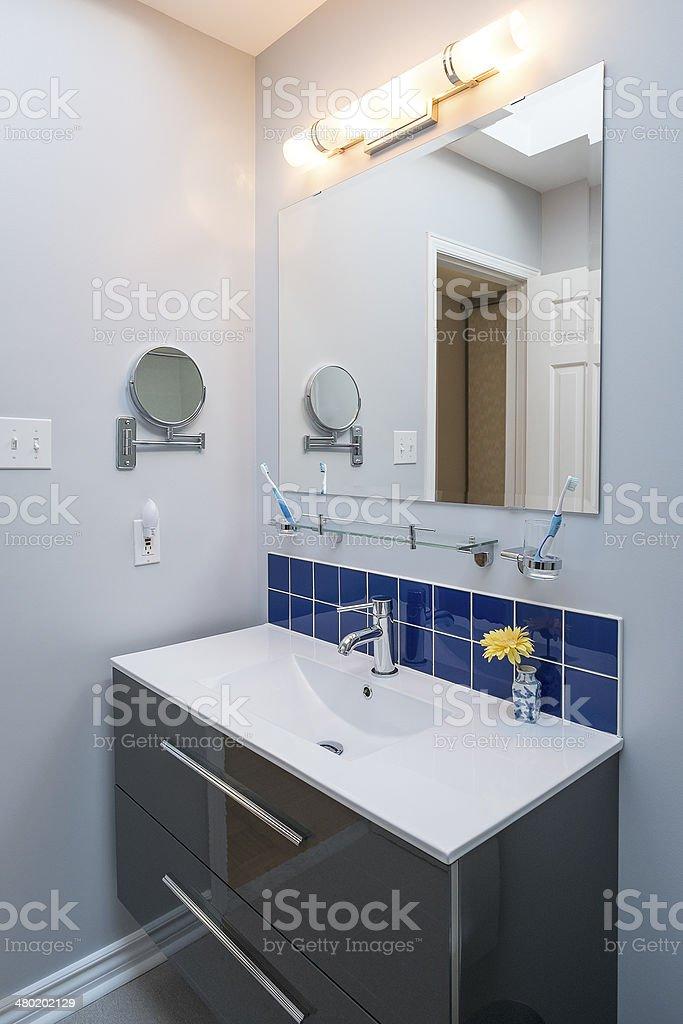 Bright New Bathroom stock photo